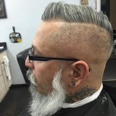 I had the pleasure of cutting @alpharican 's hair today. It was a pleasure my man. #hattorihanzoshears #hattorihanzo #hanzonation #artofmenscuts #barber #fade #baldfade #skinfade #skintight by theleftybarber