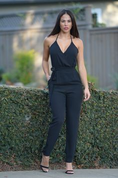 Maybelline Jumpsuit - Black | Fashion Nova