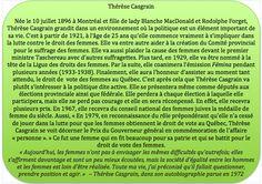 Thérèse Casgrain The Voice, The Outsiders, July 10, 25th Birthday, Grow Taller, Politics