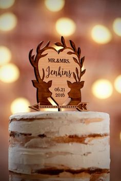f1fb1f8bd This premium alder cake topper is sure to look fantastic on your wedding  cake!
