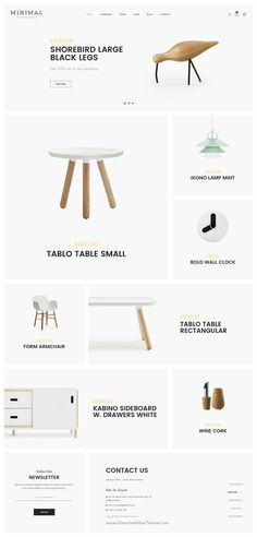 Minimal is a clean and modern design premium #PSD template for multipurpose #decor #store eCommerce website with 16 stunning homepage layouts and 43 organized PSD pages download now➯ https://themeforest.net/item/minimal-mutilconcept-ecommerce-psd-template/17186180?ref=Datasata