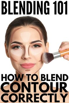 Want to know how to blend contour like Kim Kardashian? We re sharing the best tips, tutorials, and products for a sculpted look you ll love! Blending How to Blend Contour Correctly for a Sculpted Face How To Blend Contouring, Contouring For Beginners, Makeup Tips For Beginners, Contouring And Highlighting, Face Contouring Makeup, Contour Makeup Tutorials, How To Contour Your Face, Highlighter Makeup, How To Powder Contour