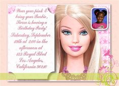 Hey i found this really awesome etsy listing at httpsetsy hey i found this really awesome etsy listing at httpsetsylisting85986878barbie girl a photo birthday invitation party themes pinterest filmwisefo