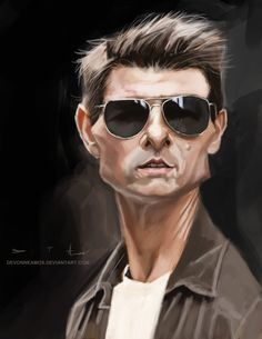 Caricatura de Tom Cruise.