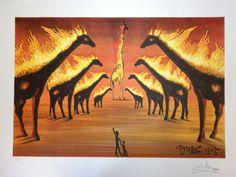 Burning Giraffes (Jirafas en Llamas) 1937 - Salvador Dali
