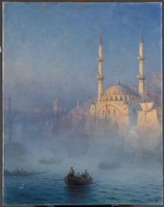Ivan Aivazovskii   Constantinople, the mosque of Top-Kahne   Images of Art