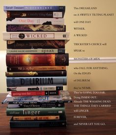 Cool book spine poetry