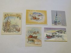 Lot of 5 vintage Christmas cards - used by GiftedEnrichment on Etsy