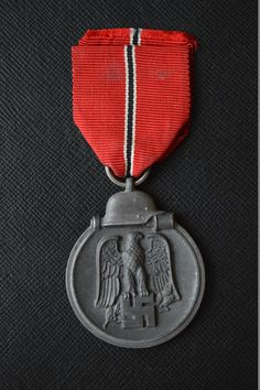 """This is the so called """"frozen meat"""" medal, awarded to all German soldiers who fought in Russia"""