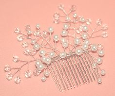 Bridal Comb Pearl Crystal Bridal Hair Comb by BridalEnchantment, $45.00 A perfect accessory for a June Bride.