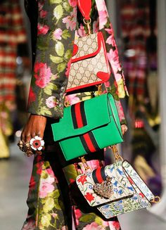Gucci Gets Heavily into the Brand's Signature Bamboo for Its Fall 2017 Bags