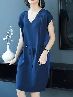 Midi Dresses - Shop Affordable Designer Midi Dresses for Women online Sewing Dresses For Women, Trendy Dresses, Simple Dresses, Plus Size Dresses, Casual Dresses, Dresses With Sleeves, Clothes For Women, Short Sleeve Dresses, Dress Sewing