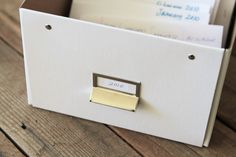 How to organize and store old photos via lilblueboo.com
