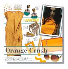 """Orange Crush"" by clovers-mind on Polyvore"