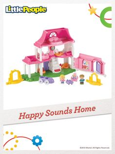 The Little People Happy Sounds Home is filled with all the sounds of a busy, happy home. #FisherPrice #Toys