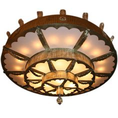 A Large Scale American Art Deco Ceiling Fixture