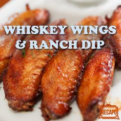 Rachael Ray shared her best chicken wing recipes for football season with Kelly & Michael, like her Whiskey Wings Recipe and Blue Cheese Ranch dip. Best Chicken Wing Recipe, Baked Chicken Wings, Chicken Wing Recipes, Chicken Wing Sauces, Chicken Meals, Fried Chicken, Turkey Recipes, Meat Recipes, Cooking Recipes