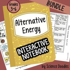 Energy Interactive Notebook BUNDLE by Science. by Science and Math Doodles Science For Kids, Earth Science, Science Fun, Teaching Science, Teaching Resources, Science Doodles, Energy Projects, Stem Projects, Interactive Notebooks