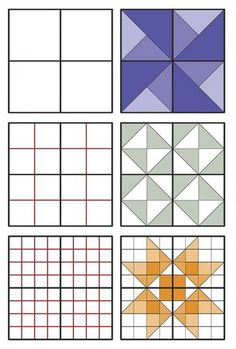 How to Draft a Quilt Block Quilt Square Patterns, Barn Quilt Patterns, Square Quilt, Sampler Quilts, Scrappy Quilts, Barn Quilt Designs, Quilting Designs, Graph Paper Drawings, Farmers Wife Quilt