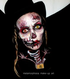 evil jack in the box make-up, creepy, mean, evil, facepaint, mad make-up, creative