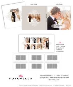 12x12 psd 30 pages wedding album lace template 15 spread and