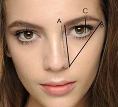 How to shape your eyebrows to suit your face shape.