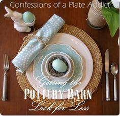 pottery barn table setting for less