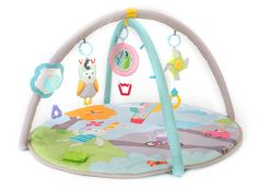Your baby will enjoy playing and exploring nature will this fun Taf Toys Musical Nature Baby Gym. Featuring musical tunes and hanging toys, this educational play toy includes 14 developmental activities that promote motor skills and hand-eye coordination. Baby Gym, Baby Nursery Furniture, Nursery Room Decor, Best Baby Play Mat, Soft Play Mats, Toddler Bunk Beds, Best Double Stroller, Activity Mat, Musical Toys