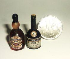 Dollhouse miniature 1:12 alcohol whiskey by miniatureVictoriya
