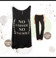 Perfect Monday morning tank and lounge pants! www.silvericing.com/mkelly Silver Icing, Stylish Clothes For Women, Lounge Pants, My Style, Shopping, Tops, Dresses, Monday Morning, Coffee