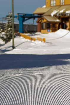 Big White Ski Resort. Corduroy from the Plaza chairlift