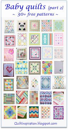 Quilt Inspiration: Free pattern day: Baby quilts! (part 2)