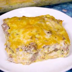 Biscuits and Gravy Casserole has all the flavor of the southern classic-Biscuits and Gravy, in casserole form and it couldn't be easier to make.