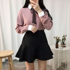 Korean Fashion – How to Dress up Korean Style – Designer Fashion Tips Style Outfits, Classy Outfits, Pretty Outfits, Girl Outfits, Cute Outfits, Fashion Outfits, Fashion Ideas, School Outfits, Fashion Tips