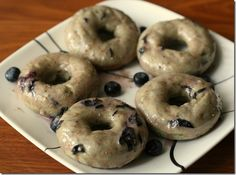 Healthier Baked Blueberry Cake Donuts