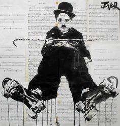 "Got To Dance!  Charlie and Chaplin Duo  Act!  Saatchi Online Artist Loui Jover; Drawing, ""little tramp"" #art"