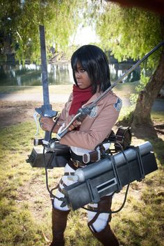 Attack on Titan: Ready by tsukiumi Character Mikasa Ackermanattack on titan,mikasa ackerman,cosplay,black cosplayer,