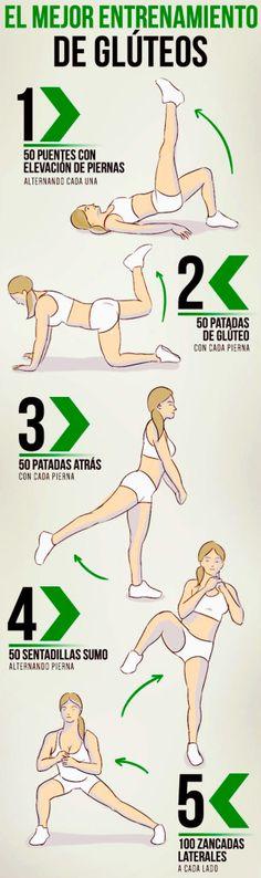 El mejor entrenamiento de Glúteos (ejercicios ilustrados)