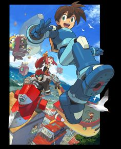 No love for Capcom, whatsoever. ('Mega Man Legends 3' Promo Art | Developed by Capcom | Game canceled July 18, 2011) #3DS #MegaMan #MML3