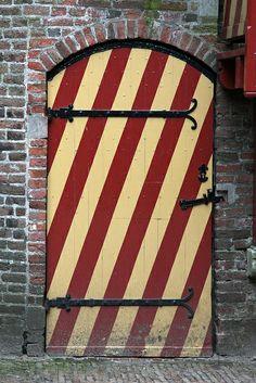 Door, Muiderslot castle by sensaos, via Flickr