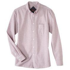 $23 / Merona® Men's Long Sleeve Tailored Fit Button Down Work Shirts, Dapper, Work Wear, Shirt Dress, Button, Long Sleeve, Fitness, Mens Tops, How To Wear