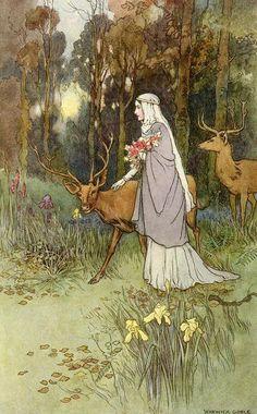 Warwick Goble to Kilmeny, The Book of Fairy Poetry (1920)