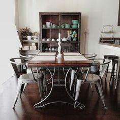 World market Jackson table with metal finish