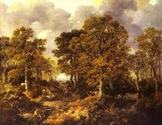 Thomas Gainsborough, Forest (Cornard Wood), 1746-7, olio su tela, National Gallery, London.
