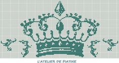 grille broderie couronne 2014 - Piatine