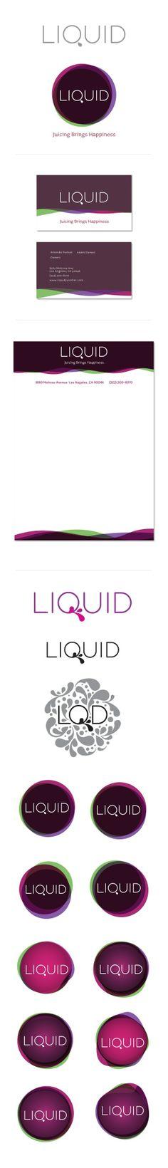 Liquid Juice Bar by Jenny Ambrose, via Behance
