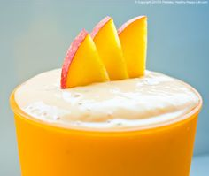 Peach Perfection. My creamy Fresh Peach Hemp Milk Protein Smoothie tastes lightly sweet with a cool nutty flavor from the ice cold hemp milk.