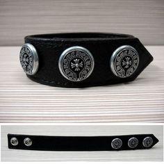 1cbfc0dc0f9 eyewear fashion · Chrome Hearts Black Leather Bracelet with Bigbang  Horshoes Logo Black Leather Bracelet