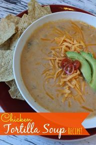 Here is an awesome Chicken tortilla soup