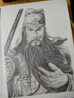 Dynasty Warriors The Man-Guan Yu This drawing is from my brother. I love it.